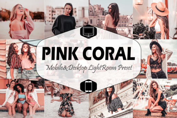 Print on Demand: Pink Coral Lightroom Presets Graphic Actions & Presets By Mattte Studio