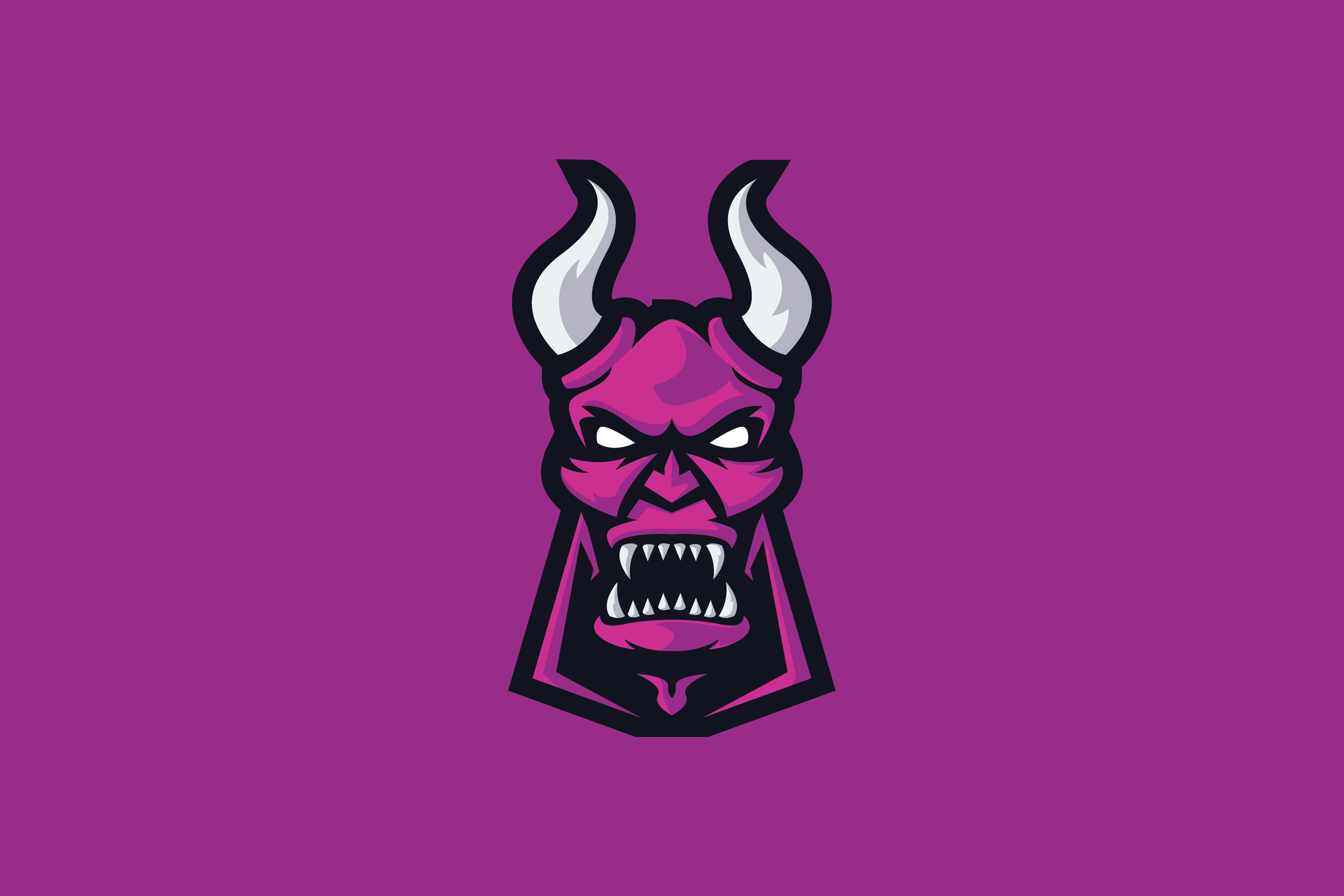 pink devil e sports logo graphic by ovoz graphics creative fabrica pink devil e sports logo