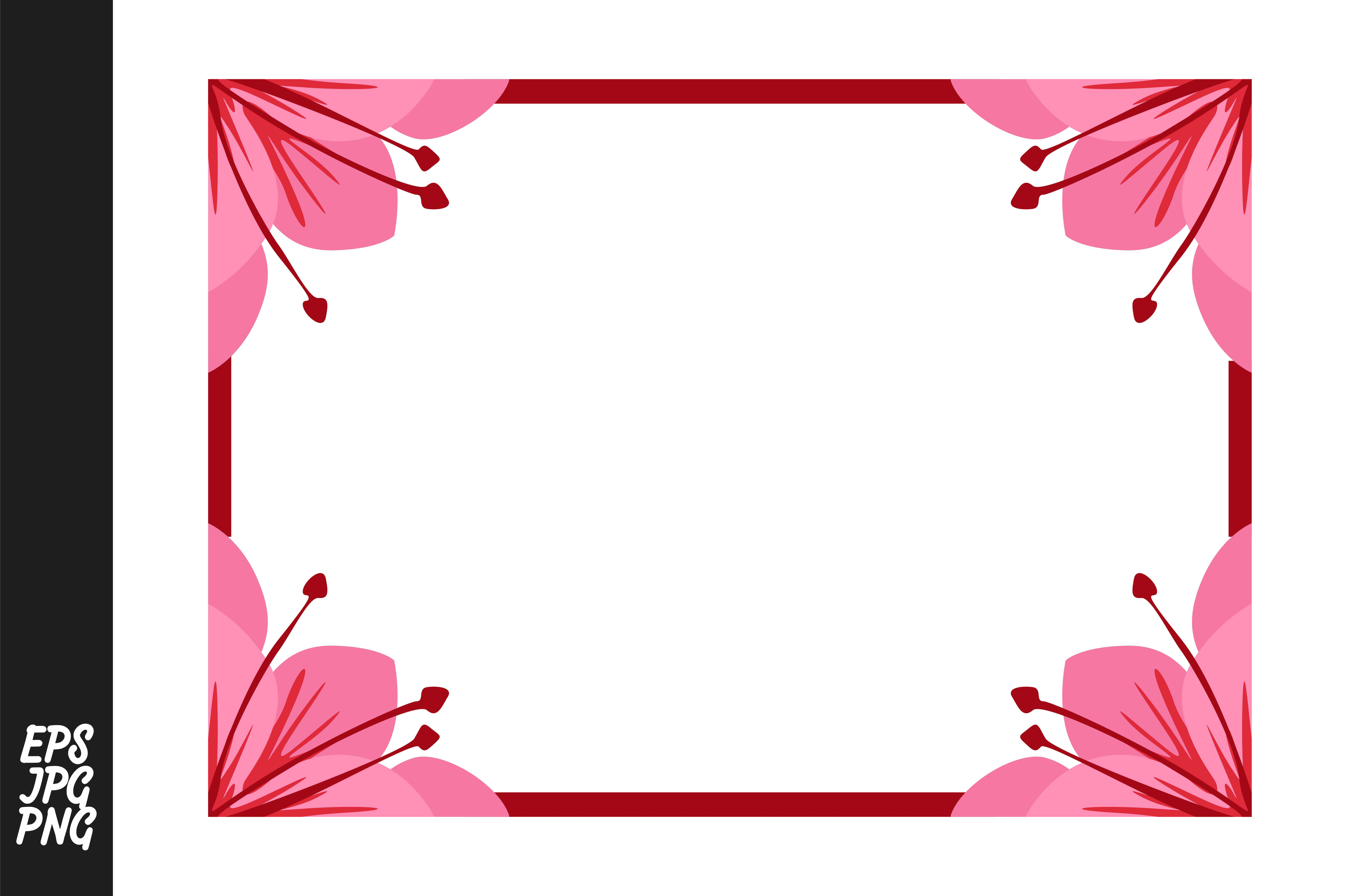 Download Free Pink Flower Ornament Border Graphic By Arief Sapta Adjie for Cricut Explore, Silhouette and other cutting machines.