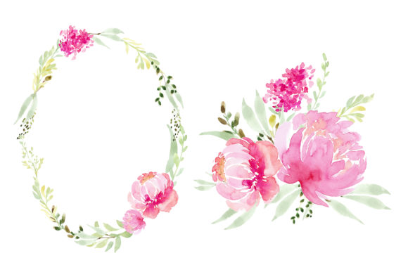 Print on Demand: Pink Flowers Peony Graphic Illustrations By Primafox Design - Image 3