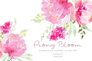Print on Demand: Pink Flowers Peony Graphic Illustrations By Primafox Design