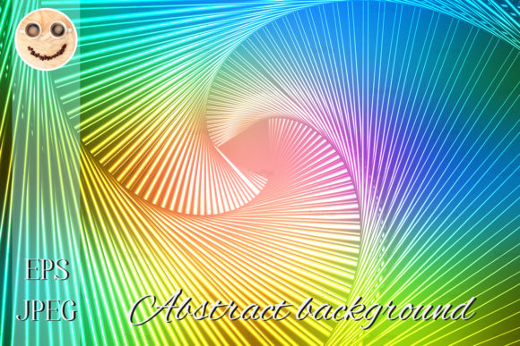 Print on Demand: Pink Green Blue Glowing Spiral Backgroun Graphic Illustrations By TasiPas