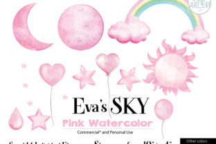 Pink Watercolor Sky Clip Art 14 Images Graphic By adlydigital