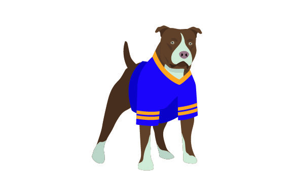 Pitbull in American Football Jersey Dogs Craft Cut File By Creative Fabrica Crafts - Image 1