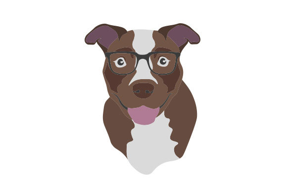 Pitbull Wearing Glasses Dogs Craft Cut File By Creative Fabrica Crafts