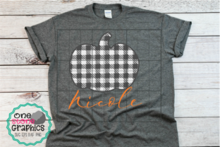 Plaid Pumpkin Graphic By OneStoneGraphics