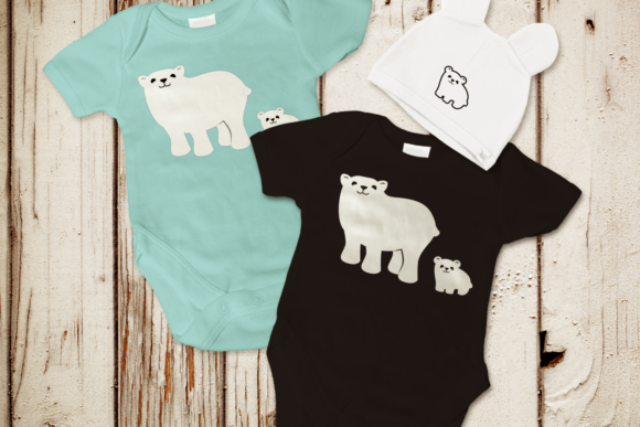 Download Free Polar Bear And Cub Graphic By Designedbygeeks Creative Fabrica for Cricut Explore, Silhouette and other cutting machines.