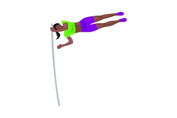 Pole Vaulter Sports Craft Cut File By Creative Fabrica Crafts