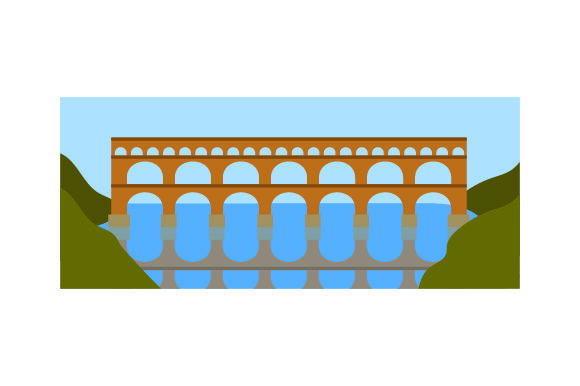 Download Free Pont Du Gard Svg Cut File By Creative Fabrica Crafts Creative for Cricut Explore, Silhouette and other cutting machines.