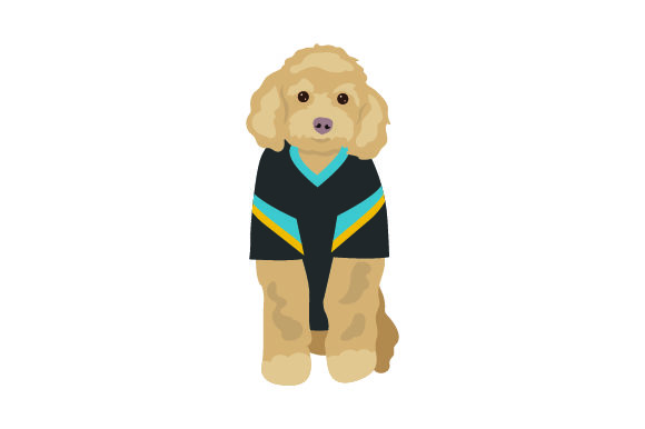 Poodle in American Football Jersey Craft Design By Creative Fabrica Crafts