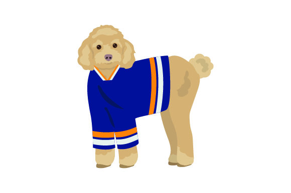 Poodle in Hockey Jersey Dogs Craft Cut File By Creative Fabrica Crafts - Image 1