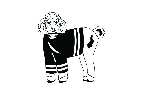 Poodle in Hockey Jersey Dogs Craft Cut File By Creative Fabrica Crafts - Image 2