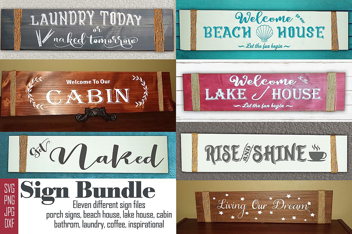 Download Free Porch Sign Bundle Graphic By Faith Designs Creative Fabrica for Cricut Explore, Silhouette and other cutting machines.