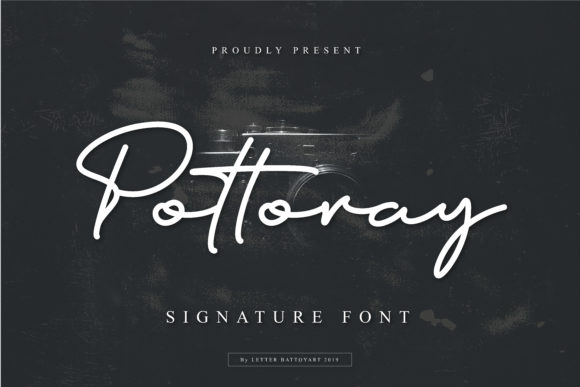 Print on Demand: Pottoray Script & Handwritten Font By letter battoyart