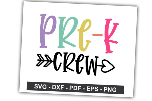 Print on Demand: Pre-k Crew Graphic Crafts By svgbundle.net