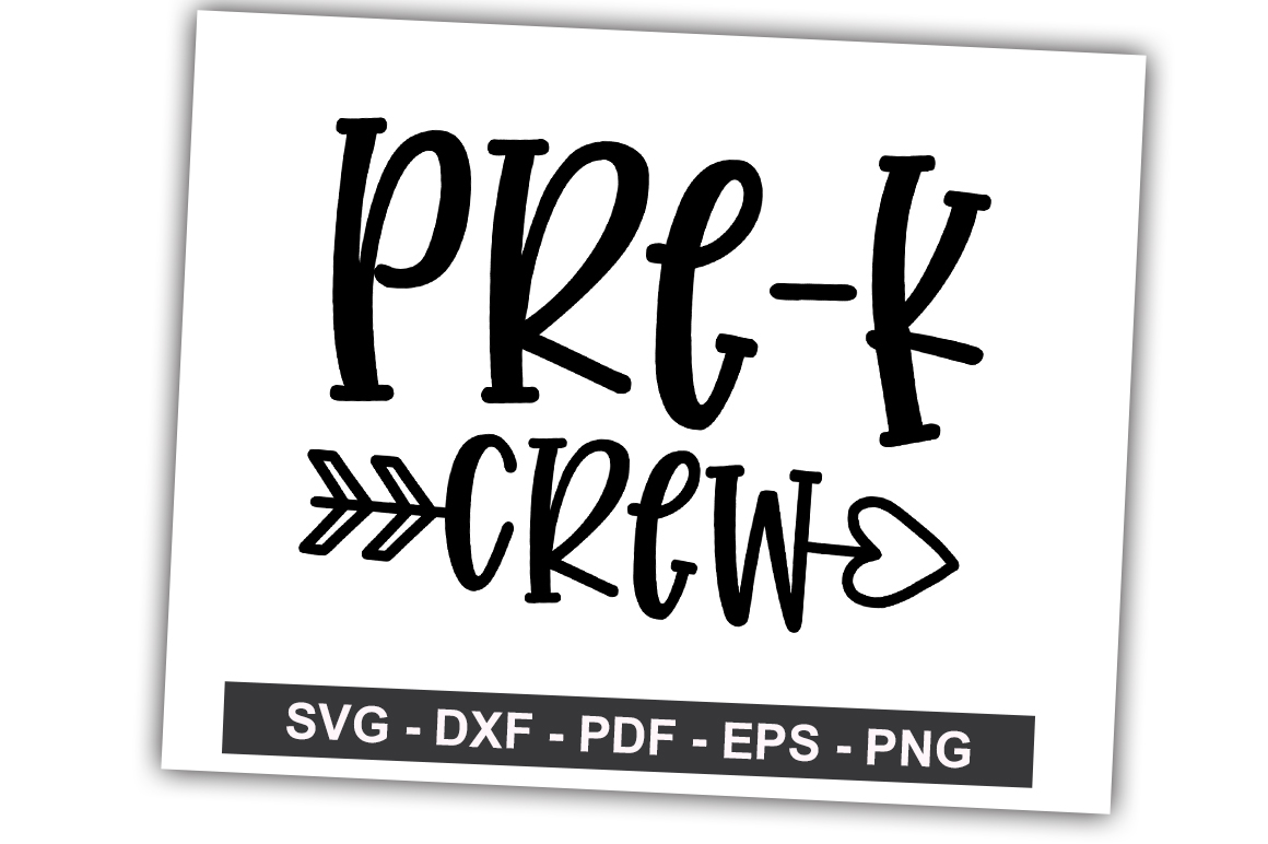 Download Free Pre K Crew Graphic By Svgbundle Net Creative Fabrica for Cricut Explore, Silhouette and other cutting machines.