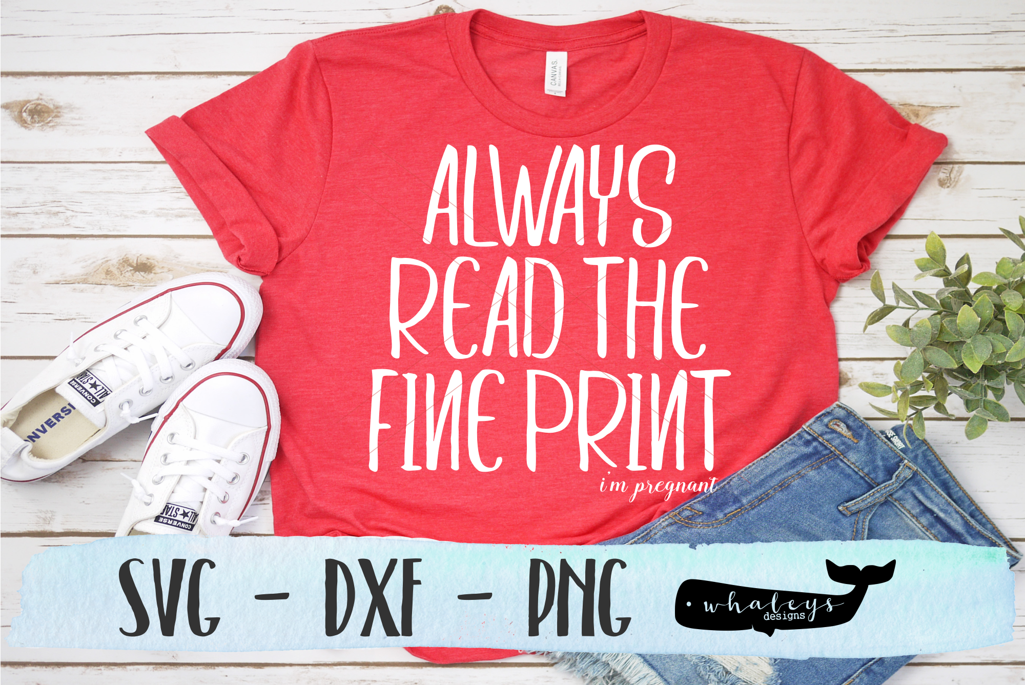 Download Free Pregnant Announcement Shirt Graphic By Whaleysdesigns for Cricut Explore, Silhouette and other cutting machines.