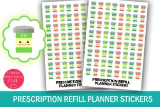 Prescription Refill Planner Stickers Graphic By Happy Printables Club