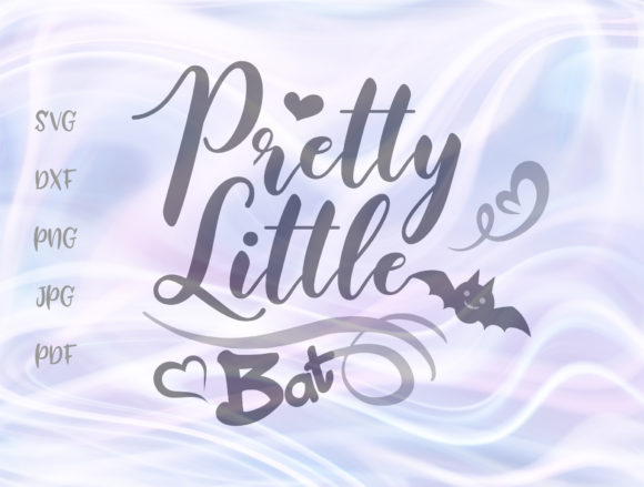 Download Free Pretty Little Bat Happy Halloween Baby Graphic By Digitals By SVG Cut Files