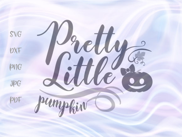 Print on Demand: Pretty Little Pumpkin Happy Halloween Graphic Crafts By Digitals by Hanna