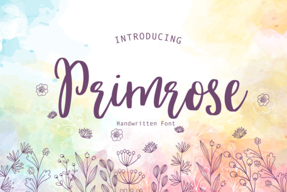 Print on Demand: Primrose Script & Handwritten Font By PaulaType