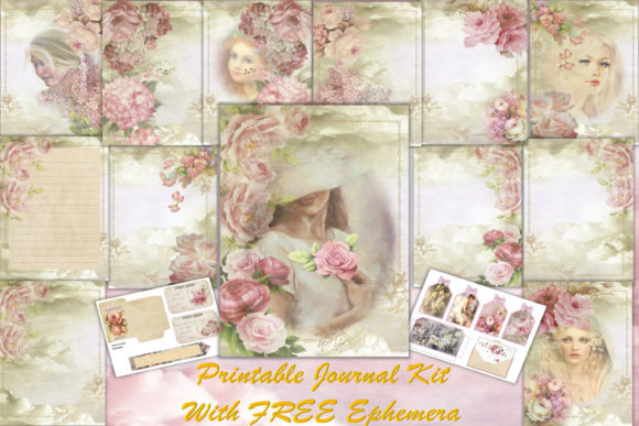 Print on Demand: Printable Backgrounds Journal Kit Graphic Crafts By The Paper Princess
