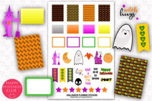 Printable Halloween Planner Stickers Graphic By Happy Printables Club