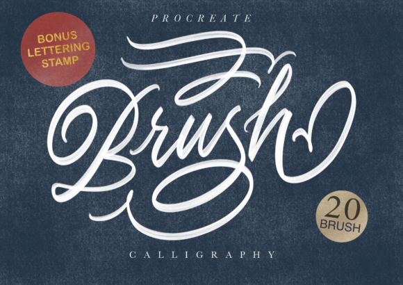 Print on Demand: Procreate Brush Calligraphy Graphic Brushes By Geranium.co