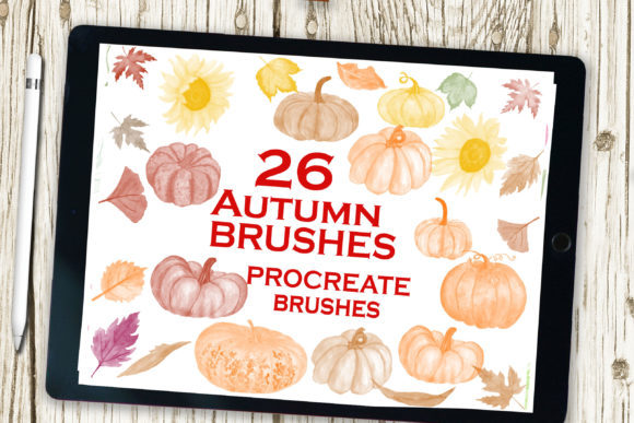Procreate Brush Set Watercolor Brushes Graphic Add-ons By ChiliPapers