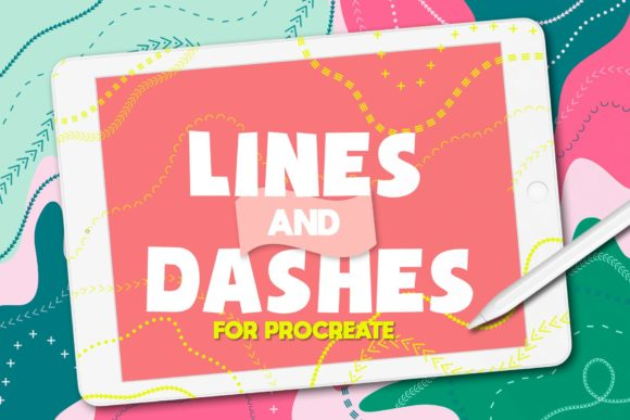 Print on Demand: Procreate Brushes Lines and Dashes Graphic Brushes By arkedbrand