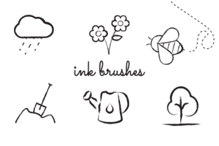 Print on Demand: Procreate Ink Brushes Graphic Brushes By Bene