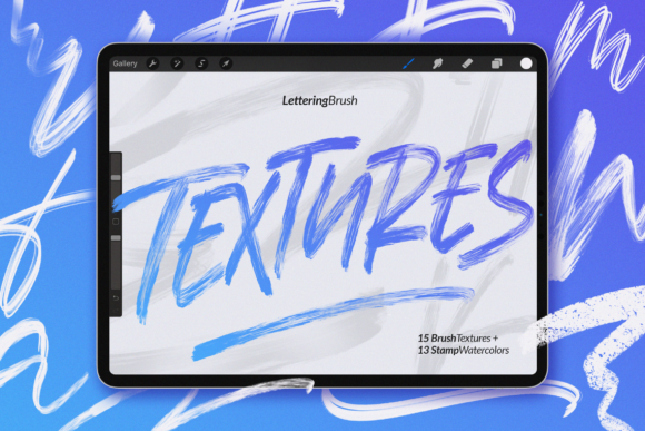 Print on Demand: Procreate Textures Brush Graphic Brushes By Geranium.co