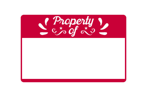 Property of Designs & Drawings Craft Cut File By Creative Fabrica Crafts