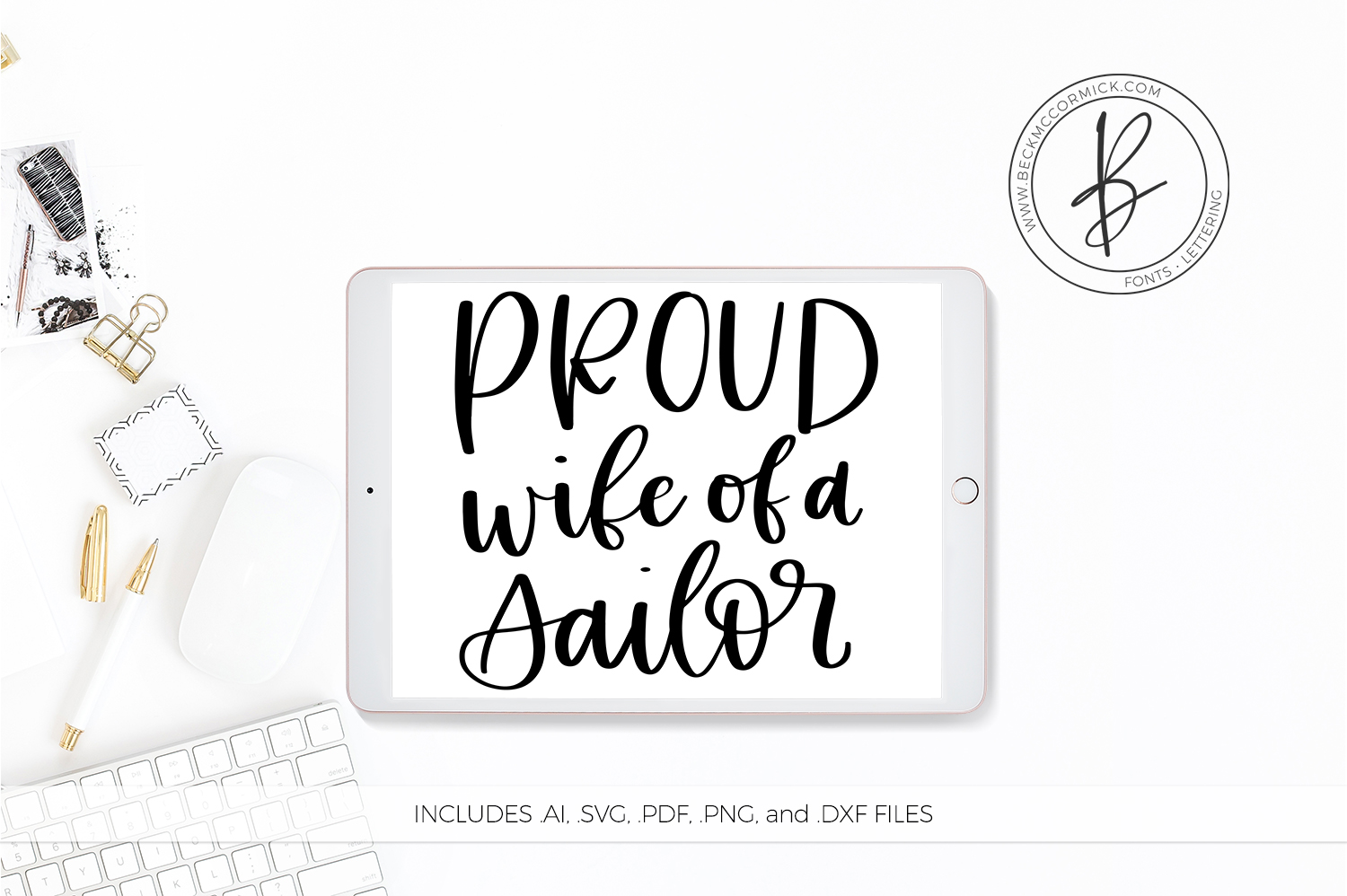 Download Free Proud Wife Of A Sailor Grafik Von Beckmccormick Creative Fabrica for Cricut Explore, Silhouette and other cutting machines.
