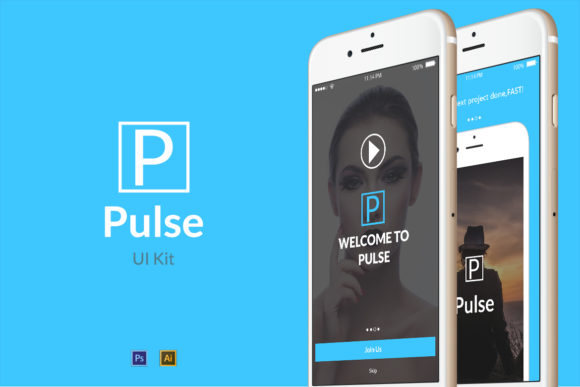 Pulse Graphic UX and UI Kits By Web Donut