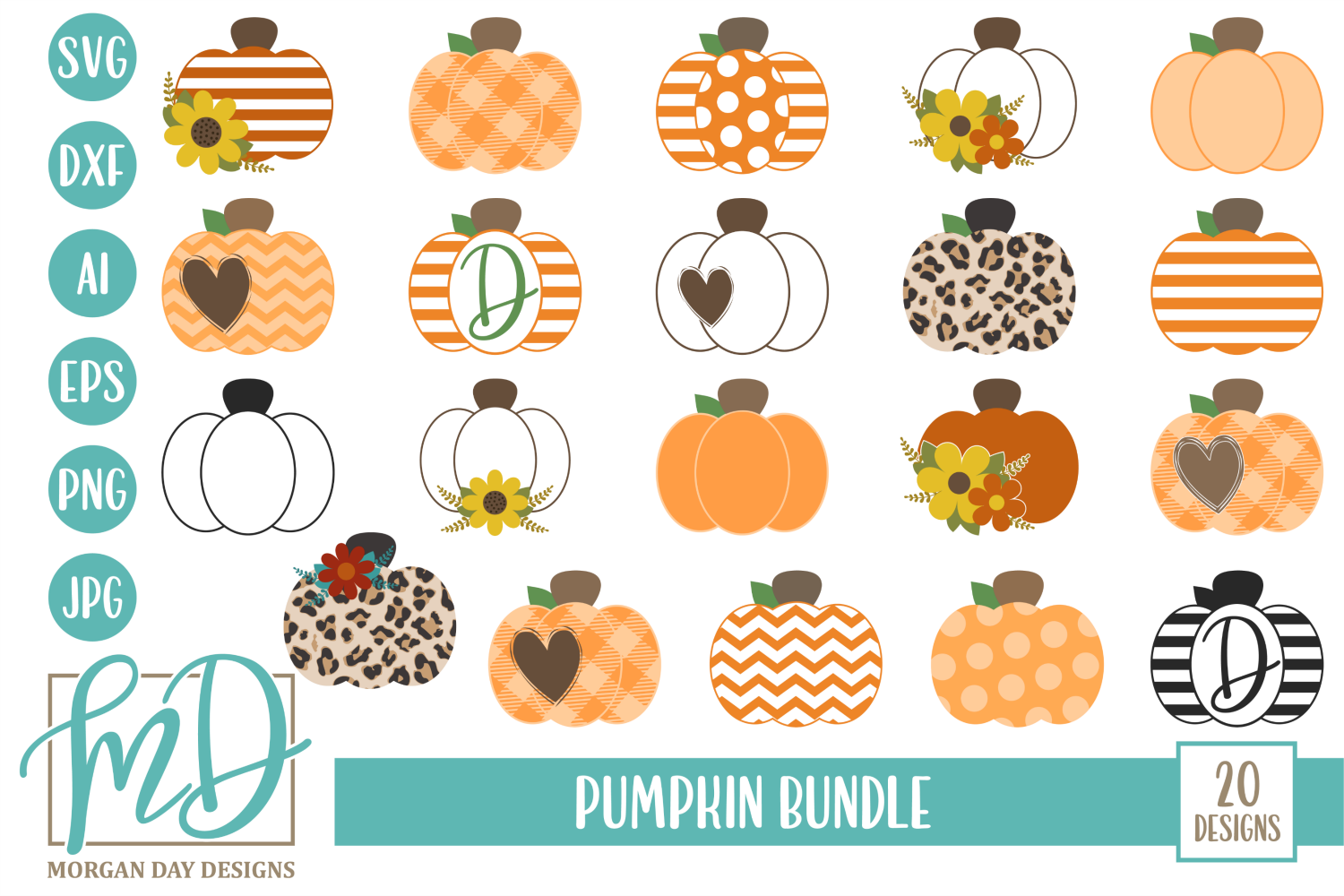 Download Free Pumpkin Bundle Graphic By Morgan Day Designs Creative Fabrica for Cricut Explore, Silhouette and other cutting machines.