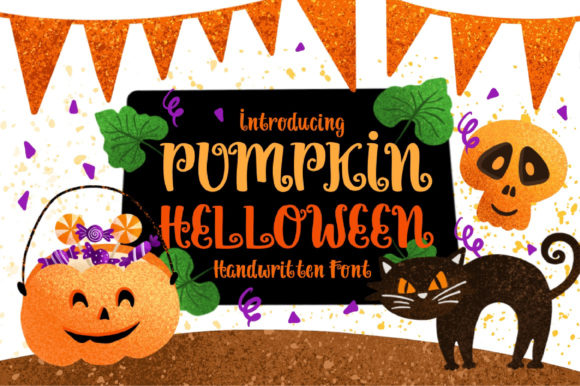 Print on Demand: Pumpkin Helloween Script & Handwritten Font By Caoca Studios