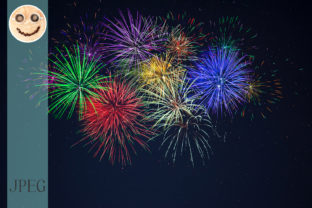 Purple Green Red Blue Yellow Fireworks Graphic By TasiPas