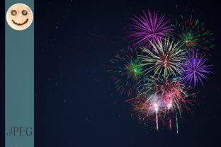 Purple Lilac Red Green Fireworks Graphic By TasiPas