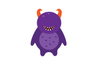 Purple Monster with No Eyes Halloween Craft Cut File By Creative Fabrica Crafts