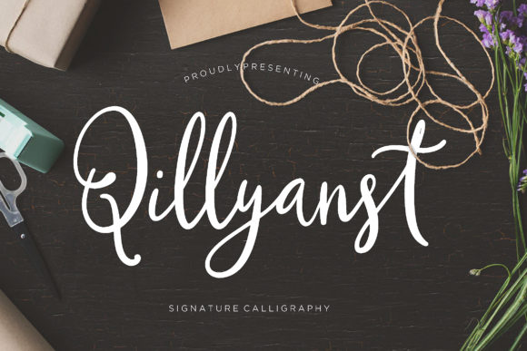 Print on Demand: Qillyanst Script & Handwritten Font By CreatypeStudio - Image 1