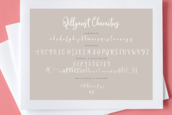 Print on Demand: Qillyanst Script & Handwritten Font By CreatypeStudio - Image 7