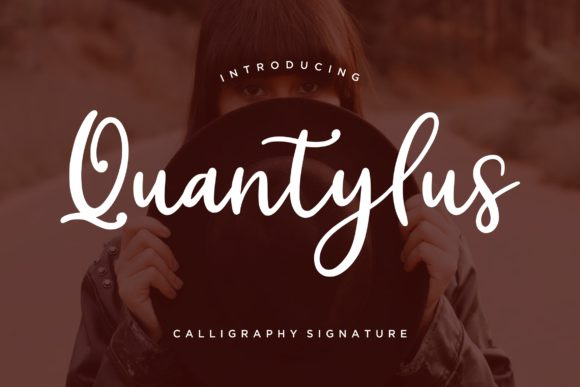 Print on Demand: Quantylus Script & Handwritten Font By CreatypeStudio
