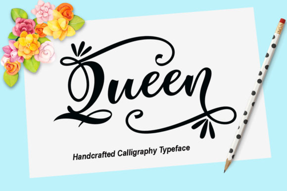 Print on Demand: Queen Script & Handwritten Font By YanIndesign