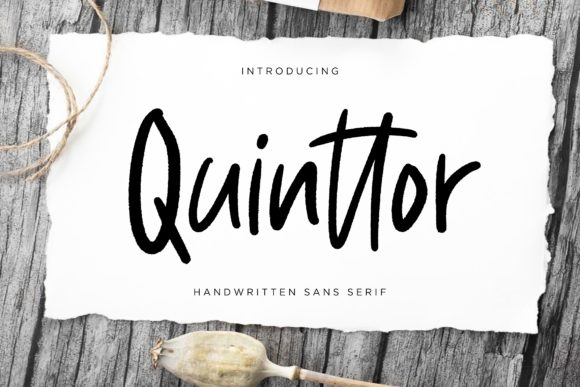 Print on Demand: Quinttor Sans Serif Font By CreatypeStudio