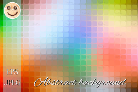 Rainbow Colors Abstract Rounded Mosaic
