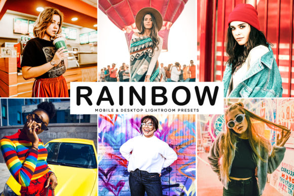 Print on Demand: Rainbow Lightroom Presets Pack Graphic Actions & Presets By Creative Tacos