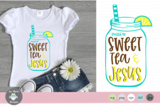Raised on Sweet Tea and Jesus Svg Graphic By thejaemarie