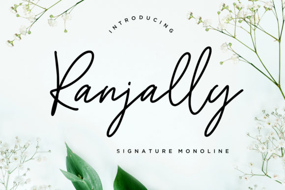 Print on Demand: Ranjally Script & Handwritten Font By CreatypeStudio