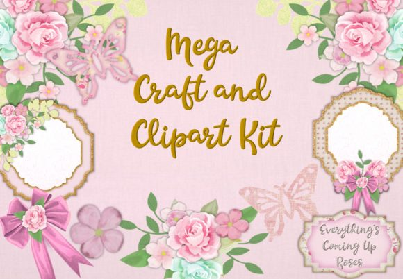 Download Free Raspberry Sorbet Mega Craft Bundle Graphic By The Paper Princess for Cricut Explore, Silhouette and other cutting machines.